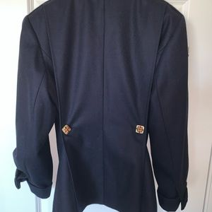CHANEL Jackets & Coats - Genuine CHANEL Navy wool cashmere pea jacket